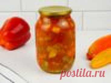 Кабачок с болгарским перцем на зиму – пошаговый рецепт приготовления с фото
