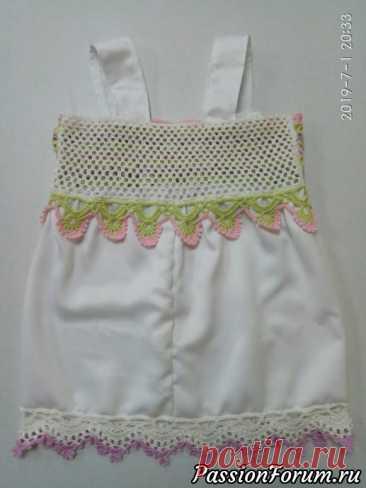 Летний топ для девочки крючком | Детская одежда крючком. Схемы