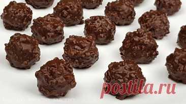 Круче «Ферреро Роше». Простой рецепт шоколадных конфет с фундуком  Просто, но вкусно.
