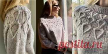 Пуловер с узором из кос Fylla - Вяжи.ру