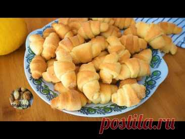 Творог творит чудеса! Творожные рогалики ! Вкусная выпечка к чаю! Cottage cheese rolls