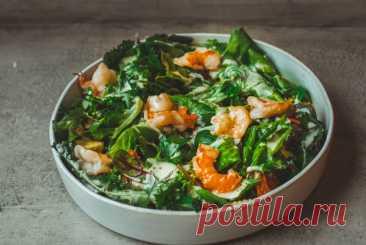 Салат с креветками, кукурузой и салатом чука рецепт – европейская кухня: салаты. «Еда»
