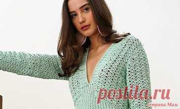 """Элегантное платье """" Verde Menta """" - Все в ажуре... (вязание крючком) - Страна Мам"""