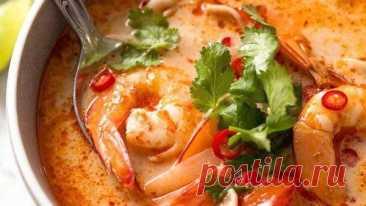 Суп «Том Ям» с креветками за 15 минут | Тайская кухня | Вкусные кулинарные рецепты