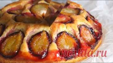 #Бесподобный #пирог #со #сливами! Супер простой и быстрый #рецепт #пирога #к #чаю!!!