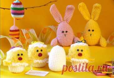 Подарок на Пасху, связанный крючком. - Все о вязании Есть желание сделать подарок на Пасху своими руками? Идеи подарков: вязаное яйцо, подставка под яйцо, курочка, цыплёнок, зайчик = кролик, корзинка крючком.