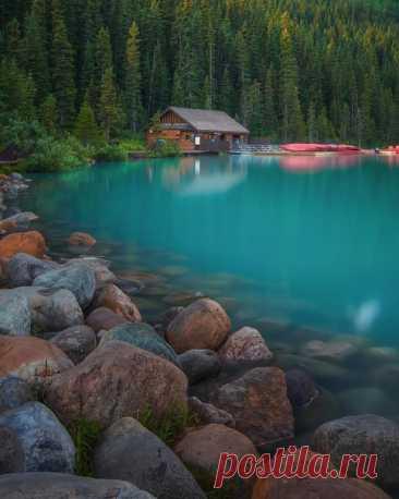 El lago de Luísas, Canadá