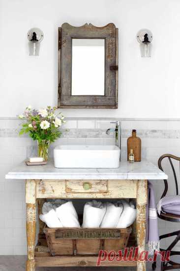 31+ впечатляющих идей тщеславия для ванной комнаты в деревенском фермерском доме своими руками