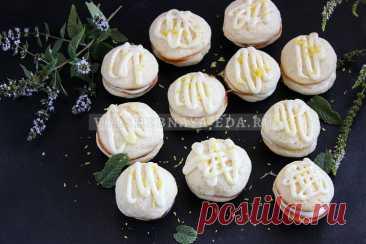Лимонное печенье с кремом | Волшебная Eда.ру Готовим домашнее лимонное печенье с кремом из сгущенки. Пошаговый рецепт с фото.