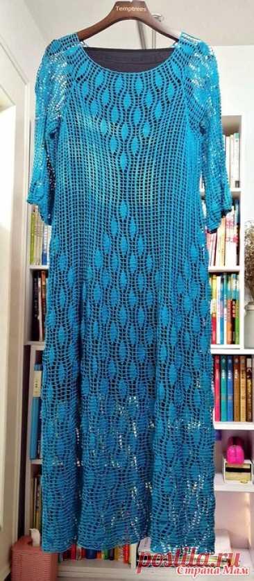 Бирюзовое макси-платье