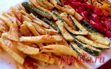 Берем перец с цуккини и запекаем как картошку. Теперь овощи едят даже те, кто никогда их не любил