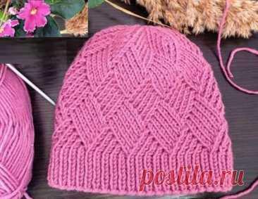 Модные стильные шапки, связанные красивыми узорами (с описанием вязания)   Идеи рукоделия   Яндекс Дзен