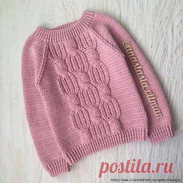 Пуловеры детские крючком