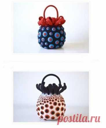 Причудливые сумочки из фетра