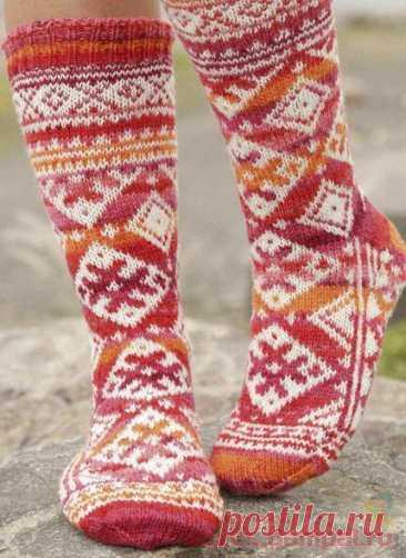 Вязаные носки «Mexican Sunset» | ВЯЗАНЫЕ НОСКИ