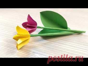 Поделки к 8 марта своими руками. 🌷 Тюльпаны из бумаги. 🌷