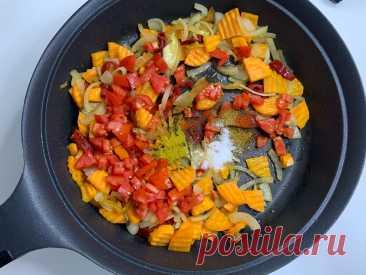 Всё сложили и забыли: готовлю свой любимый быстрый ужин в одной сковороде (вкусно и хватит на всю семью)   NE_кухарка   Яндекс Дзен