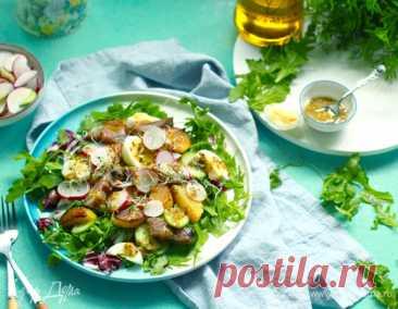 Овощной салат с копченой сельдью и горчичной заправкой, пошаговый рецепт на 1766 ккал, фото, ингредиенты - daiquiri