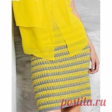 Стильная юбка, связанная крючком