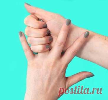 Health. Massage of fingers