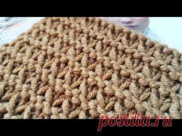 """Бомбический"" узор спицами, не пропустите 🧚🏽♀️ knitting pattern. - YouTube"