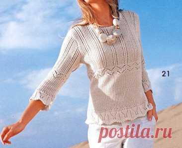 Джемперы. Оригинально и просто. Вязание спицами | Марусино рукоделие | Пульс Mail.ru 10 моделей