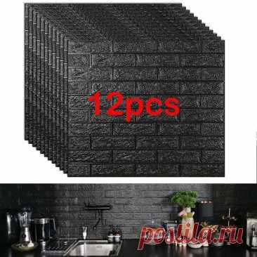 23.08US $ 40% СКИДКА|12 шт. панели из кирпичной пены, 3D настенные наклейки, самоклеящиеся тисненые каменные обои «сделай сам», украшение для дома, гостиной, кухни|Наклейки на стену|   | АлиЭкспресс Покупай умнее, живи веселее! Aliexpress.com
