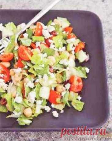 Рецепт: Греческий салат с нутом на RussianFood.com
