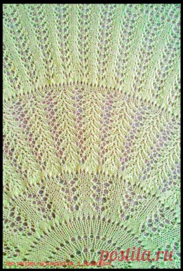 """Загадочная шаль """"Крылья чайки"""" от Элизабет Циммерман (вязание спицами)"""
