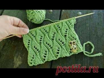 Узор «Вихрь из ажурных листьев» 🍃 Leaves Swirl Pattern