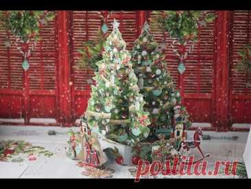 Поп ап по-новогоднему Конструкция Елка / Pop up Christmas tree