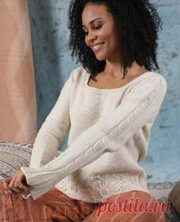 Белый вязаный пуловер «Itinerant».