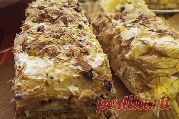 Пирожное Наполеон из готового слоеного теста, рецепт с фото и видео | Вкусные кулинарные рецепты