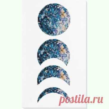 Фази Місяця білий фон AB-772-01 / Абрис Арт / Набори для вишивки бісером / Вишивання на Zinzilin.com