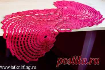 Красные салфетки - вязание, салфетка