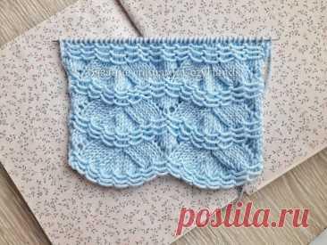 Оригинальный узор спицами Заснеженные ёлочки для вязания пледов, свитеров | Вязание спицами CozyHands | Яндекс Дзен