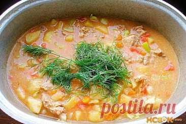 👌 Бограч. Суп-гуляш по-венгерски, ссылки Бограч венгерский  – традиционное блюдо венгерской кухни, представляющее собой очень сытный и ароматный гуляш из говядины с паприкой, картофелем и томатами.   Телятина 1 кг. Картоф...