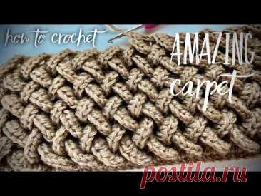 ВЯЖЕМ ИЗ ОСТАТКОВ ПРЯЖИ… 💥💥💥 3D КОВЕР КОСАМИ КРЮЧКОМ! How to crochet a carpet!