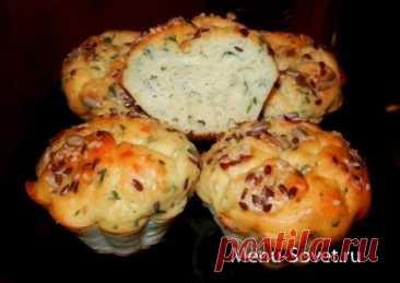 Рецепт вкусных кексов из плавленых сырков с зеленью