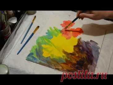 ЭФФЕКТ ВИНТАЖ/ Пишем и состариваем абстрактную картину с маслом/ MODERN ART
