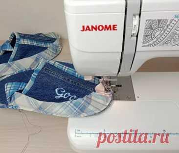 Мастер-класс «Джинсовые тапочки», выполненный на Janome RS 2019s и Janome Memory Craft 550E Не спешите выбрасывать старые джинсы. Из них получатся удобные и мягкий тапочки. Если вы сошьете их в подарок, то каждое утро они будут дарить радость вашим близким.