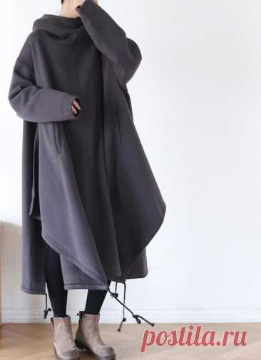 Women Hooded Dress Cotton Oversized Dresses cape dress | Etsy 【Fabric】 Cotton 【Color】 gray, black 【Size】 Shoulder width is not limited Bust 150cm / 58 sleeve 57cm / 22 Cuff circumference 28cm / 11 Length 110cm / 43   Washing & Care instructions: -Hand wash or gently machine washable do not tumble dry -Gentle wash cycle (40°C) -If you feel like ironing