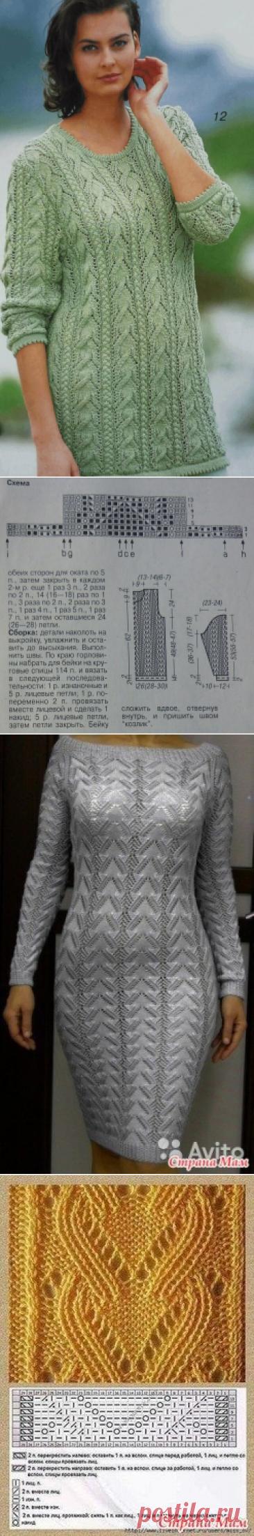 Три очаровательные модели для женщин спицами. Схемы, описание.   Вязаный Смак   Яндекс Дзен