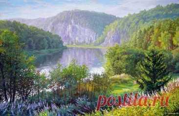 Бесконечная красота пейзажной живописи А.Самохвалова
