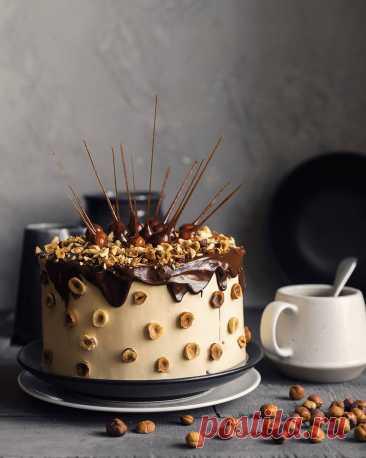 Торт «Ореховое безумие» с карамелью и карамельным кремом | Andy Chef (Энди Шеф) — блог о еде и путешествиях, пошаговые рецепты, интернет-магазин для кондитеров |
