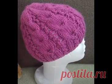 Видео обзор шапочки для зимы и весенне-осеннего сезона. В следующем видео свяжем подклад для холодов