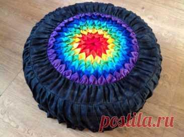 Чехол на подушку-пуфик из лоскутков — Сделай сам, идеи для творчества - DIY Ideas