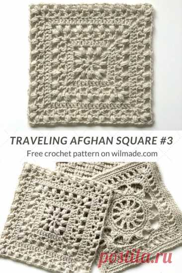 Crochet Afghan Square #3 - Tulips from Holland by Wilmade
