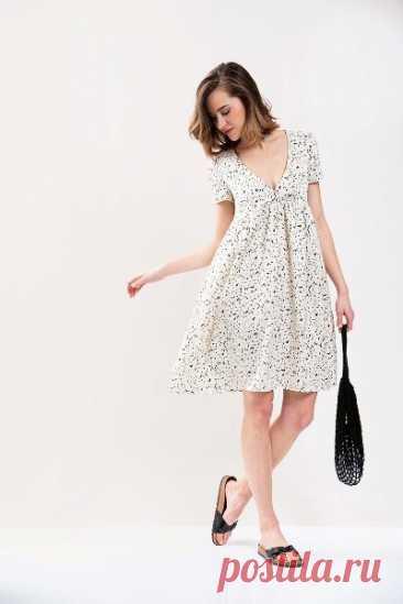 Выкройка женского летнего платья размеры 34-44 евро Источник https://blog.bernina.com/de/tag/download-schnittmuster/