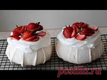 Wie man Baiser Kuchen Pavlovas macht (einfaches Rezept)/How to make meringue cake pavlovas